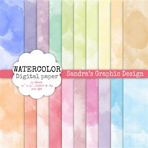 How To Make Watercolor Paper - watercolor digital paper sets s graphic design