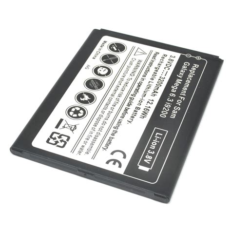 On Baterai Samsung Galaxy Mega 2 Battery battery replacement for samsung galaxy mega gt i9200 3200mah black jakartanotebook