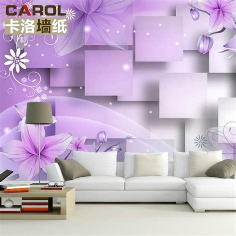 Purple Wall Mural 65 desain wallpaper dinding ruang tamu minimalis terbaru