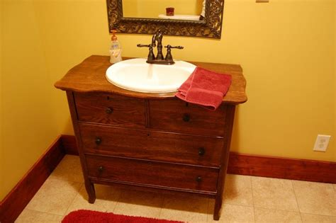 Turning A Dresser Into A Bathroom Vanity by Turn A Dresser Into A Vanity Easy For The Home