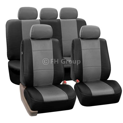 seat covers for split bench truck pu leather car seat covers w carpet floor mats for split