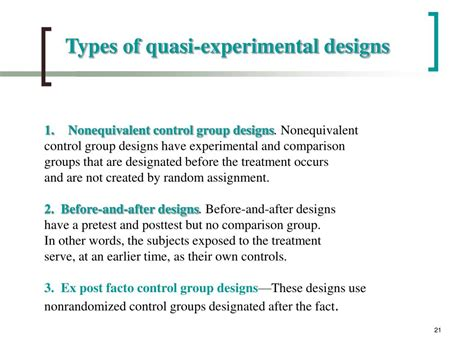 the design is quasi experimental ppt chapter 6 powerpoint presentation id 747489