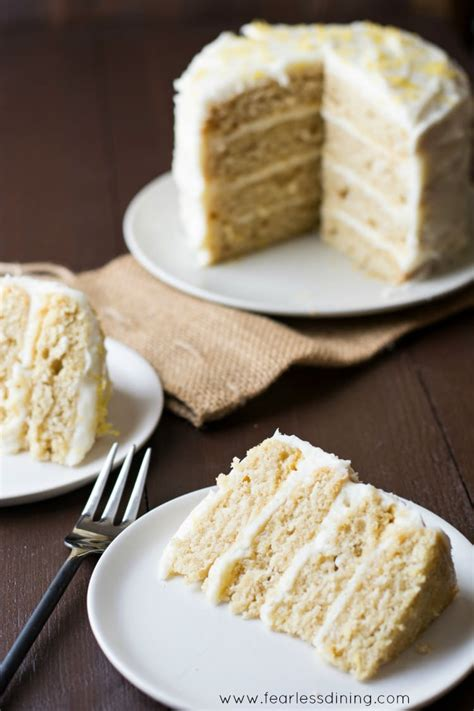 it is easy to have a cake that is both lovely to look at and oh so super easy gluten free lemon layer cake fearless dining