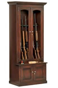 gun cabinet measurements amish gun cabinets oak cherry maple gun cabinets
