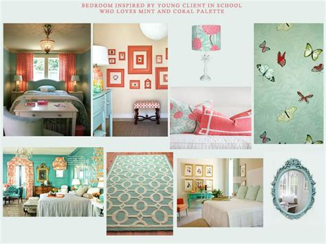 mint bedroom coral and mint bedroom kee interiors concept boards