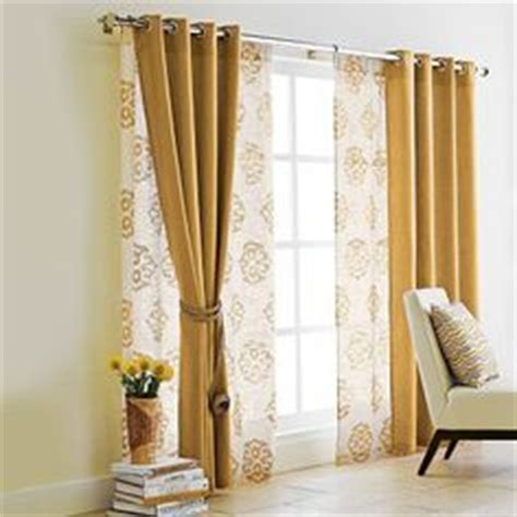 double window curtain ideas double curtain rod w grommet curtains and sheers living