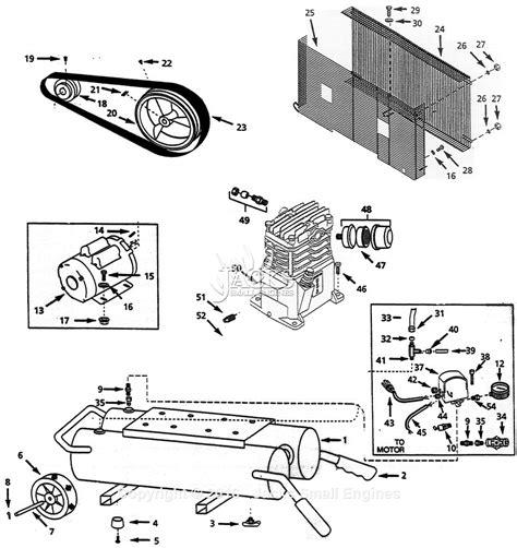 air compressor parts diagram cbell hausfeld vt613199 parts diagram for air