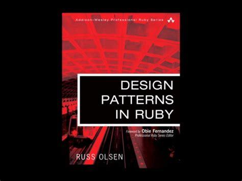 design pattern in ruby oop design patterns in ruby
