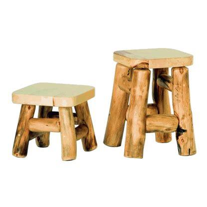 mountain woods log furniture aspen log foot stool
