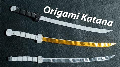 paper sword origami katana 4 0 tutorial diy henry