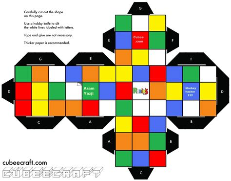 How To Make A Paper Rubix Cube - rubik s cube template search totally 80 s