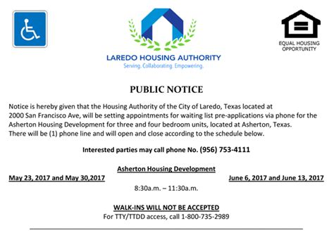 texas section 8 waiting list open lha to open asherton waiting list laredo housing authority