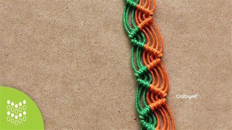 Cavandoli Macrame - pulsera zig zag de macram 233 cavandoli dise 241 o sencillo