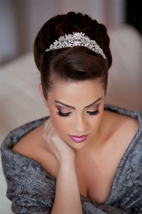 bridal hairstyles tiara an elegant updo with a tiara topping refinery at its best