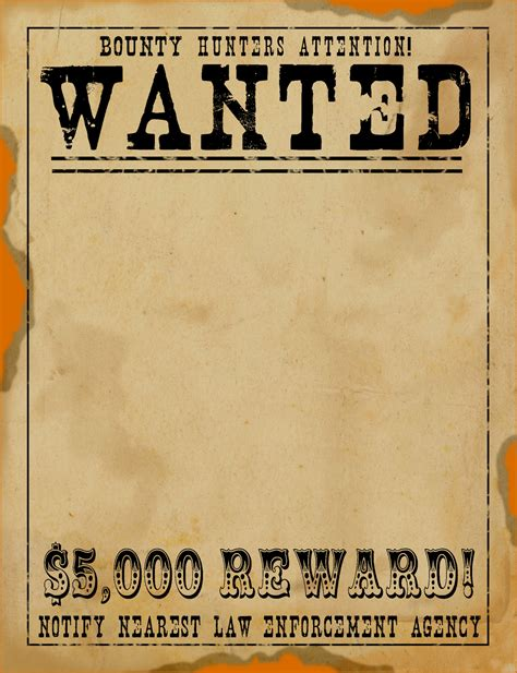 7 Wanted Poster Template Pdf Authorizationletters Org West Wanted Poster Template Free