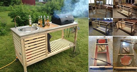 Diy Outdoor Kitchen Cabinets Wonderful Diy Portable Outdoor Kitchen