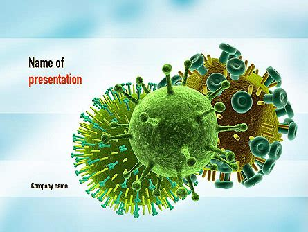 Hiv Virus Powerpoint Template Backgrounds 11023 Poweredtemplate Com Virus Powerpoint Template Free
