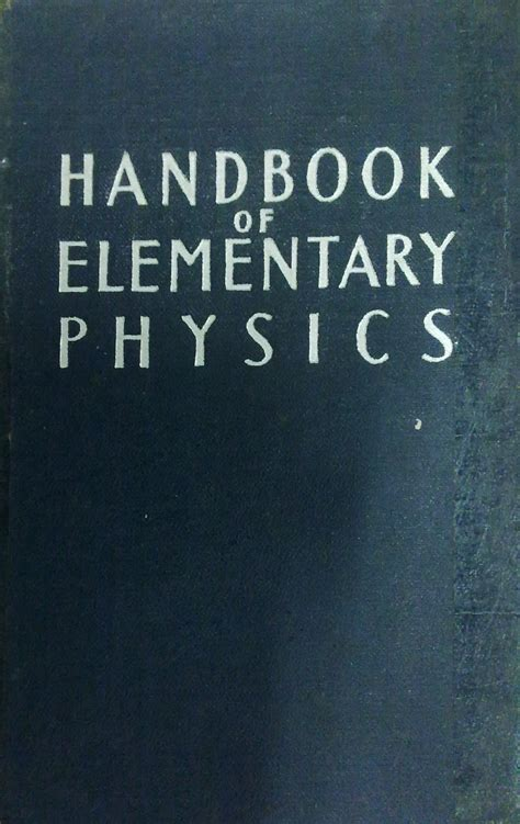 handbook of charged particle optics second edition books handbook of elementary physics mir books