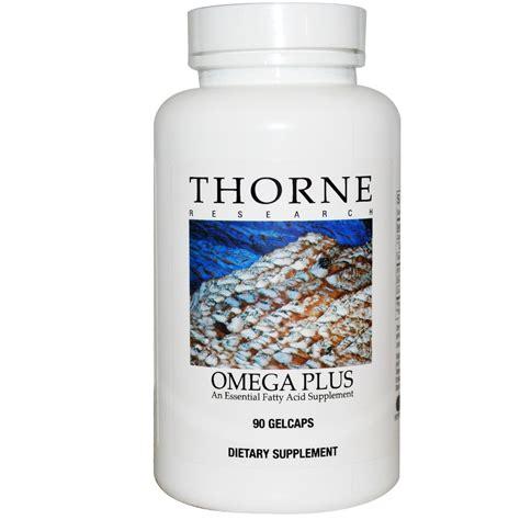 Omega Plus Thorne Research Omega Plus 90 Gelcaps Iherb