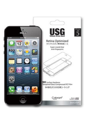 Colorant Iphone 5 Usg Clear 1 patchworks colorant usg retina optimized tempered glass compressed pet screen protector for