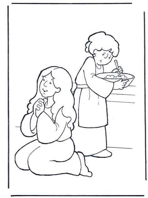 mary and martha coloring page coloring home