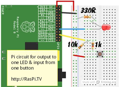 resistor for led raspberry pi rpi gpio basics 6 using inputs and outputs together with rpi gpio pull ups and pull downs