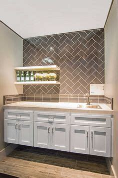 mirrored bar backsplash transitional kitchen