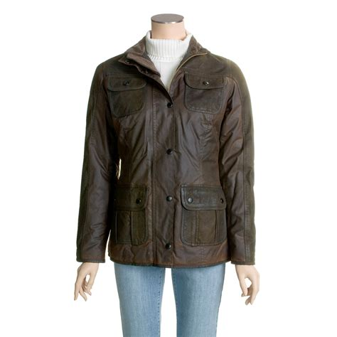 womens barbour waxed cotton utility jacket barbour barbour waxed cotton and leather utility jacket for women