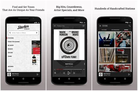 slacker androids slacker radio for android gets a redesigned interface in new update