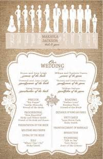 ceremony programs wedding burlap and lace wedding programs ceremony programs