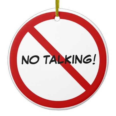 door hanger no talking christmas ornament zazzle