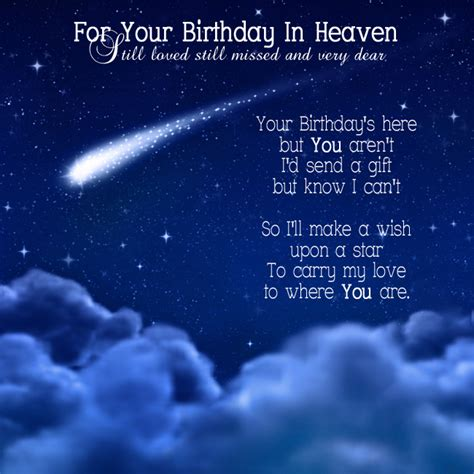 Wishing A Happy Birthday To Someone In Heaven Your Birthday In Heaven Heavens Birthdays And Star