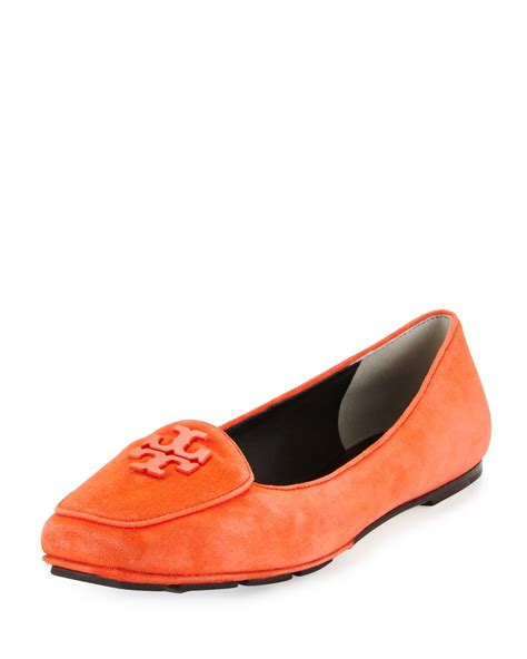 burch loafers burch fitz suede logo loafer in lyst