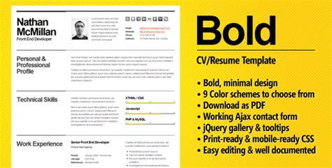 Bold Resume Template Bold A Cv Resume Template For Smart Professionals Meet John Rton Entrepreneur Investor