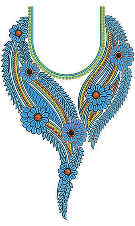 embroidery design gala pakistani dress neck yoke gala embroidery design