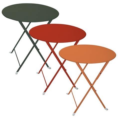 tavolo rotondo pieghevole tavolo pieghevole da giardino in acciaio lario rotondo
