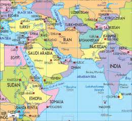 us map of middle east political map of middle east ezilon maps
