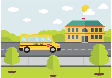 design graphics school school bus design vector free download free vector art