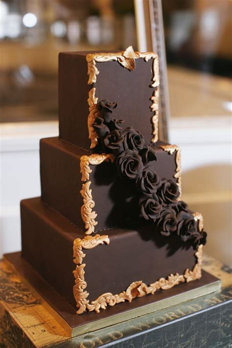 Brown Cake Diameter 20 20 decadent and delicious chocolate wedding cakes chic