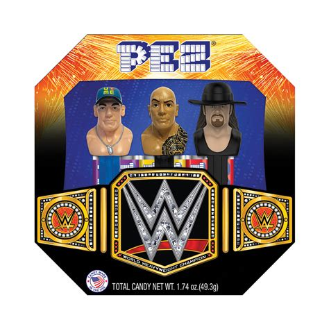 Wwe Gift Cards - wwe pez candy and dispenser collectible gift set wwe us