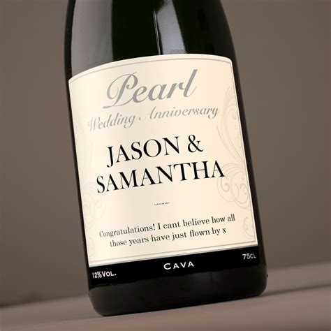 Wedding Anniversary Gifts Next Day Delivery by Personalised Cava Pearl Anniversary Gettingpersonal Co Uk