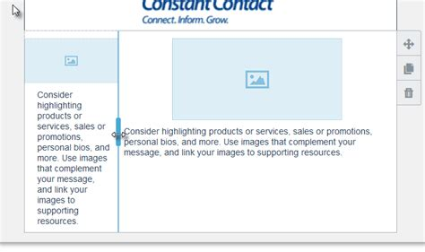 constant contact template width image collections