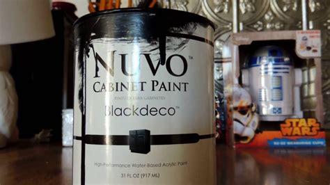 nuvo cabinet paint black deco nuvo black cabinet paint review part 1