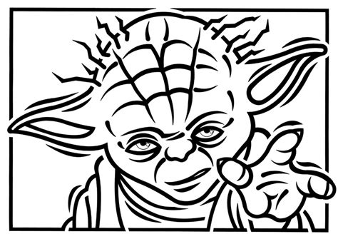 cute yoda coloring pages yoda black and white clipart clipart suggest