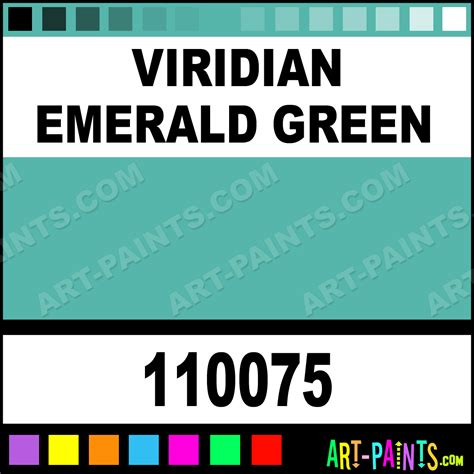 viridian emerald green professional watercolor paints 110075 viridian emerald green paint