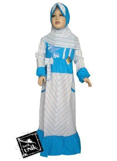Baju Gamis Kombinasi 2 Warna baju batik gamis anak motif lurik pita warna baju muslim anak murah batikunik
