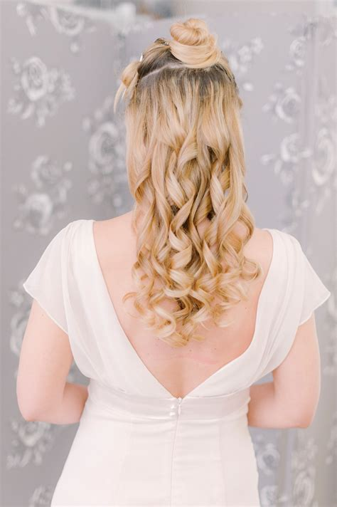Bridal Hair Half Up Tutorial by Half And Half Bloved