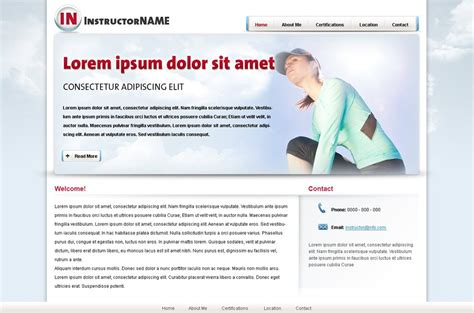 Fitness Web Template 24 Personal Trainer Web Templates Phpjabbers Fitness Trainer Website Templates