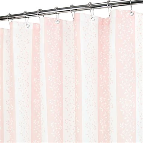 pink stripe shower curtain florentine stripe pink and white shower curtain bed bath