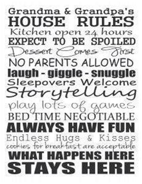 printable house rules poem a short poem about grandparents that you can copy and